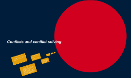 Conflict and conflicts