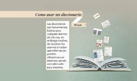 Como usar un diccionario