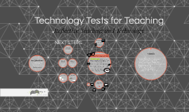 Technology Tests for Teaching