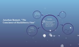 """Bennett, """"The Conscience of Huckleberry Finn"""""""