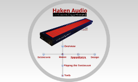 Haken Audio: Continuum Fingerboard