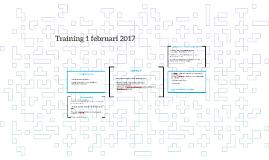 Training 1 februari 2017