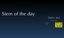 Stem of the day ard
