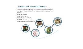 CLASIFICACION EN LOS ORGANISMOS