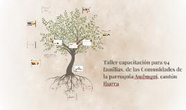 Taller capacitación para 94 familias, de las Comunidades de