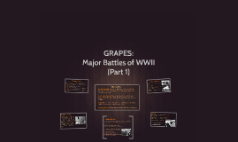 Major Battles of WWII (GRAPES) [Part 1]