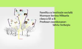 Copy of Familia ca instituție socială