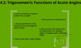 4.2: Trigonometric Functions of Acute Angles