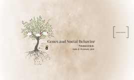 Genes and Social Behavior