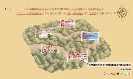 A importância recursos naturais sociedade contemporânea - Ambiente e Recursos Naturais