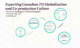 Exporting Canadian Television