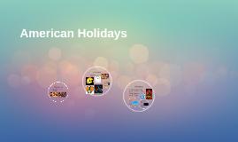 American Holidays