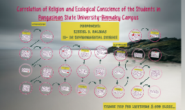 Correlation of Religion and Ecological Conscience of the Stu
