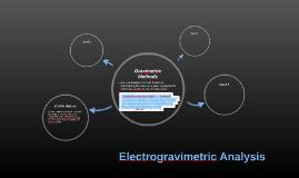 Electrogravimetric Analysis