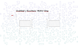 Oralidad y Escritura- Walter Ong