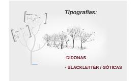 Tipografías: