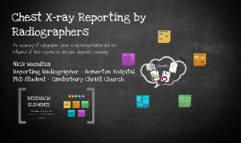 Chest Reporting by Radiographers