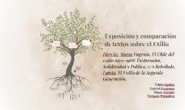 Exposición y comparacion de textos sobre el Exilio