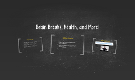 Brain Breaks, Nutrition, and More!