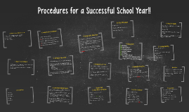 Procedures for a Successful School Year!!