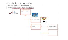 desarrollo de planes, programas, procedimientos, y presupues