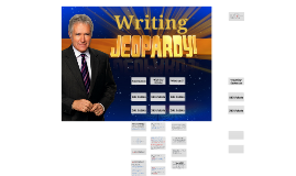 Writing Jeopardy - Sp 2014 DWRI