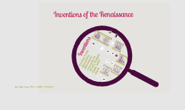 Copy of Inventions of the Renaissance
