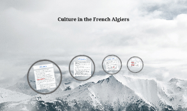 Culture in the French Algires