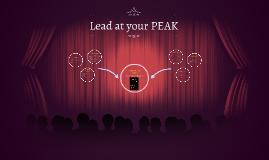 Lead at your PEAK