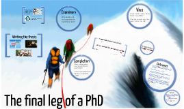 The final leg of the research degree journey