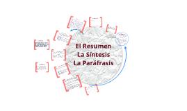 Copy of El Resumen, La Síntesis y la Parafrasis