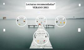 Lecturas recomendadas. Verano 2013