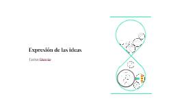 Expresión de las ideas
