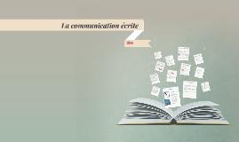 La communication écrite