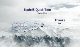 NodeJS Quick Tour
