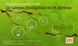 Les schèmes d'intelligibilités de J-M. Berthelot