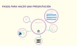 Copy of PASOS PARA HACER UNA PRESENTACIÓN