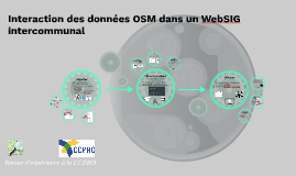 Interaction des données OSM dans un WebSIG intercommunal