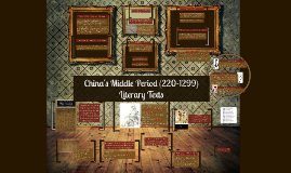 Copy of Copy of China's Middle Period (220-1299)