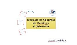 Teoría de los 14 puntos de Deming y Ciclo PHVA