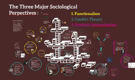 The Three Major Sociologcal Perspectives