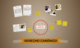 DERECHO CANÓNICO