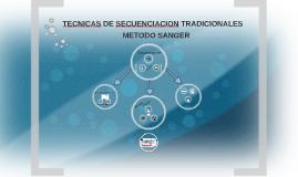 TECNICAS DE SECUENCIACION TRADICIONALES