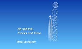 ED 370 - CIP Time and Clocks