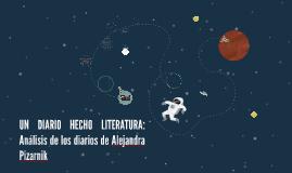 UN DIARIO HECHO LITERATURA: Análisis de los diarios de Aleja