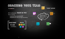 COACHING YOUR TEAM