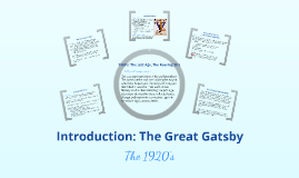 Introduction: The Great Gatsby