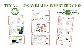 TEMA 4. LOS ANIMALES INVERTEBRADOS