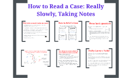 How to Read a Case