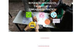REPORTE DE OBSERVACIÓN Y ANÁLISIS DE LA COMUNIDAD DE PRÁCTIC